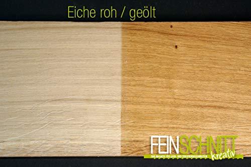 FEINSCHNITTkreativ Eiche-Massivholz-Zuschnitt | Verschiedene Größen und Stärken | ideal für Bastel- und Sägearbeiten (450 x 150 x 20 mm | 1 Platte)