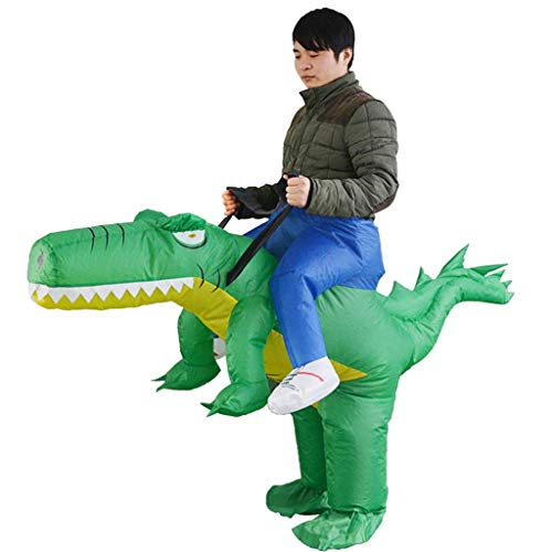 1yess Inflatable Costume Halloween Costumes Crocodile Clothes Pants Adult Funny Animal Mount Cartoon Doll Props 150-195Cm