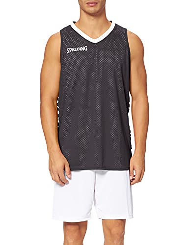 Spalding Herren Essential Reversible Shirt, Schwarz/Weiß, M