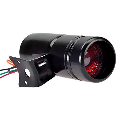 Wosonku Black Adjustable Tachometer RPM Tacho Gauge Shift Light Lamp Red LED Universal