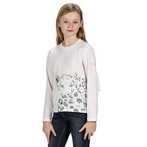 Regatta Camiseta Unisex de Manga Larga de algodón Wenbie Coolweave con Estampado gráfico Camisetas/Polos/Chalecos, Unisex niños, Camisetas/Polos/Camisetas, RKT113 900C11, Blanco, 11-12 años