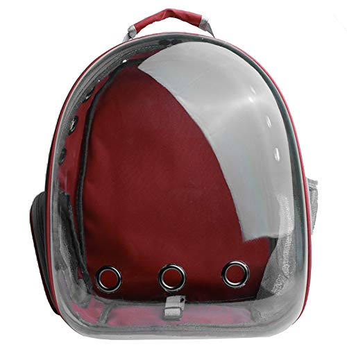 Portátil del gato del perro casero Compañías de Transporte Ventana astronauta bolsa de gato Mochila Cápsula espacial alta calidad transpirable bolsa del animal doméstico,Rojo,30x33x40cm