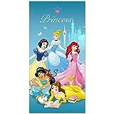 Disney Drap de Plage Princess Bleu Ciel Enfant 70 x 140 cm