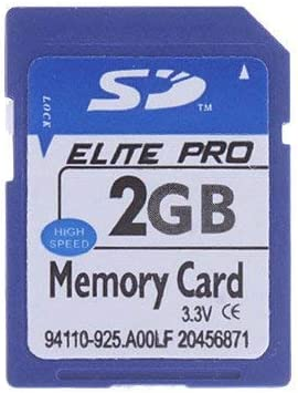 2GB SD Card Class 4 Flash Memory Card Compatible with Older Camera, 3D Printer, PDA, MP3, MP4, Camcorder, GPS, Fish Finder SD Card
