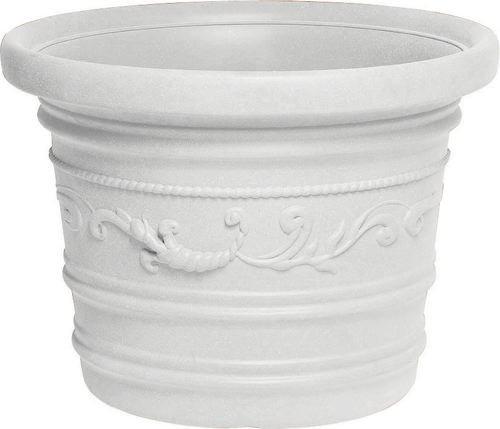 Vase rond festonné Ø 50 double CONSEIL cm couleur résine blanche