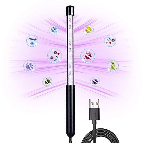 Bacchetta disinfettante a luce UV DUCLUS, bacchetta disinfettante UV portatile con carica USB, disinfezione con lampada UV per giocattoli da camera, luci UV da viaggio