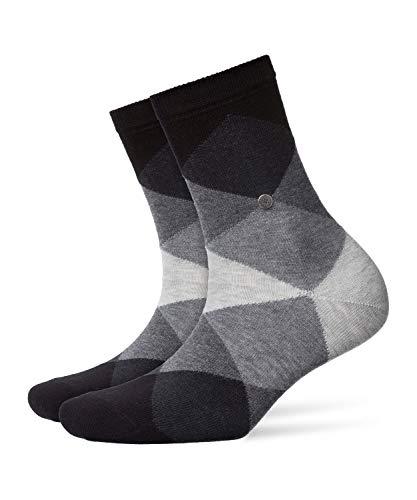 Burlington Damen Socken Bonnie, Baumwollmischung, 1 Paar, Schwarz, 36-41