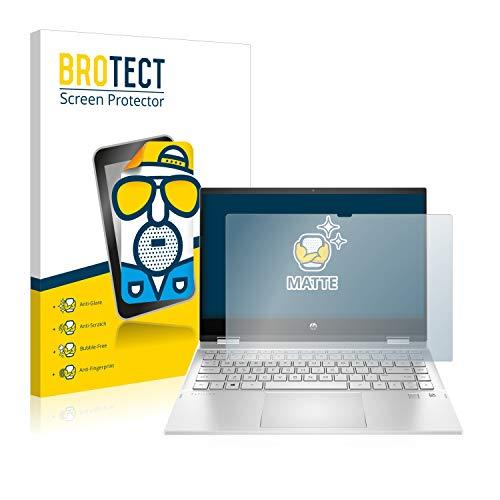 BROTECT Entspiegelungs-Schutzfolie kompatibel mit HP Pavilion x360 14-dw0756ng Bildschirmschutz-Folie Matt, Anti-Reflex, Anti-Fingerprint