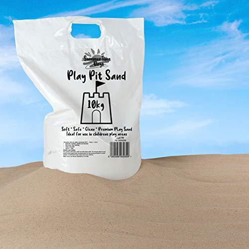 Laeto Summertime Days Kinder-Spielsand, 10 kg, Beutel für Kinder, ungiftig, weich, ideal zum Spielen in Sandkästen