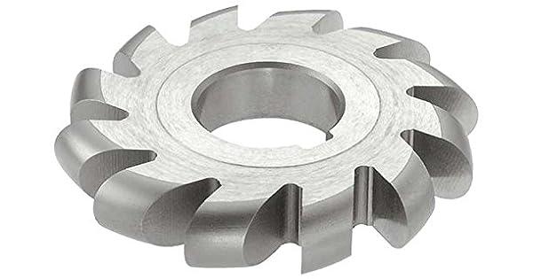 KEO Milling 13590 Standard Diameter Convex Milling Cutter,CVS Style 7//16 Convex Radius 1-1//4 Arbor Hole 12 Teeth HSS 4 Cutting Diameter Uncoated Coating 7//8 Circle Diameter