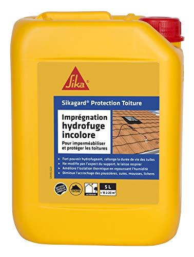 Sikagard Protection Toiture, Imperméabilisant, hydrofuge, incolore pour toitures, protection longue durée, 5L=environ 20m²