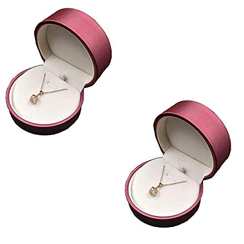 SMEJS 2 PCS Creativity Ring Box Organizador de joyas de acrílico Semicírculo Estuche de almacenamiento de joyas Organizador de viaje pequeño Cajas de regalo para anillos Pendientes Collar Pulsera