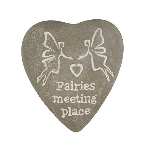 Fairies Meeting Place gravé Cœur Galet : Jard008