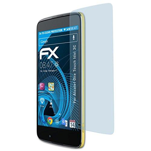 atFolix Schutzfolie kompatibel mit Alcatel One Touch Idol 3C Folie, ultraklare FX Bildschirmschutzfolie (3X)