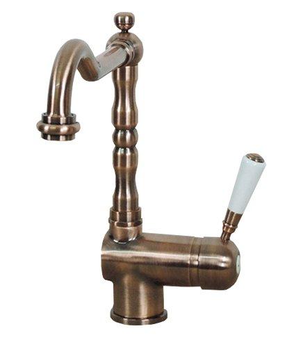 Miscelatore di colore rame monocomando rubinetto monoforo lavello cucina Saragozza antico classico