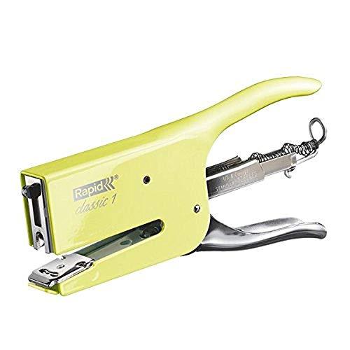 Rapid Retro K1 Cucitrice a Pinza , Compatibile con i Punti Metallici 24/6 e 24/8 mm, Capacità 50 Fogli, Metallo, Mellow Yellow, 5000494