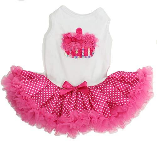 Hotpink / White Cupcake Petti Dress