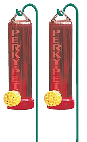 Perky-Pet 2 Pack of 215P Planter Box Plastic Hummingbird Feeder