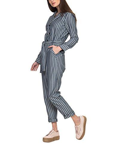 G-STAR RAW Deline Jumpsuit Wmn L/s Overalls/Latzhosen Damen Blau/Weiss - XL - Overalls/Latzhosen Dress
