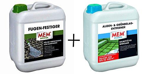 MEM Algen- & Grünbelag-Entferner 5l + Fugen-Festiger 5l