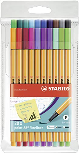 Fineliner - STABILO point 88 - 20er Pack - Sondersortierung