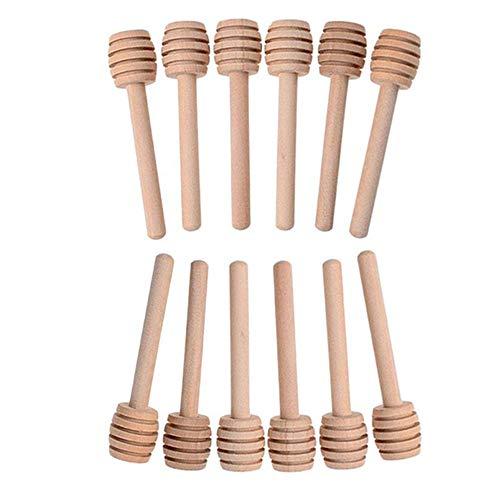Honing Dipper Mini 24 stks Hout Roeren staaf Sticks Server voor Honing Potje Dispense Verzamel Motregen Honing Party…