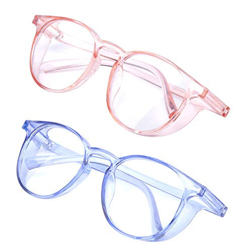Outray 2 Pack Womens Safety Glasses Anti-Fog Blue Light Goggles Fashion Eye Protection