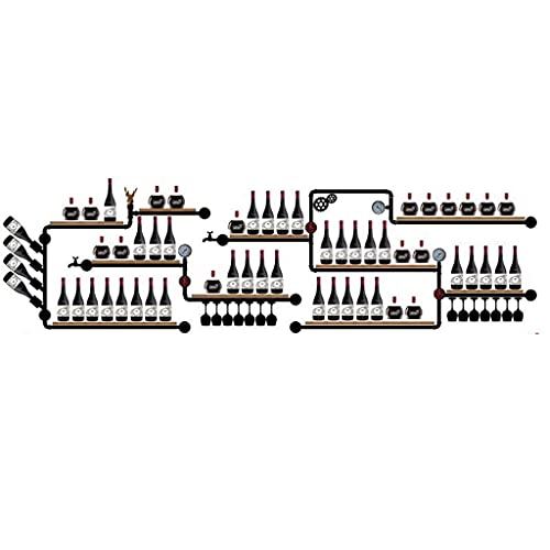 XJZKA Estantes de Metal para Vino de Pared, Estante para Copas de Vino, Soporte para Botellas, Estante Flotante de Madera, Estante de exhibición Decorativo Antiguo Industrial con lámpara
