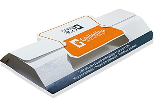Ghilotina Trampas para cucarachas, tamaño XXL, 10 unidades, con cebo (+Ebook para combatir eficazmente cucarachas) – cebo prémium – listo para usar para profesionales y para todo el mundo