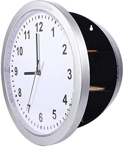 BANNAB Reloj de Pared Oculto Caja Fuerte Secreta Caja de contenedores, para Guardar Dinero, Joyas, Objetos de Valor, Almacenamiento en Efectivo