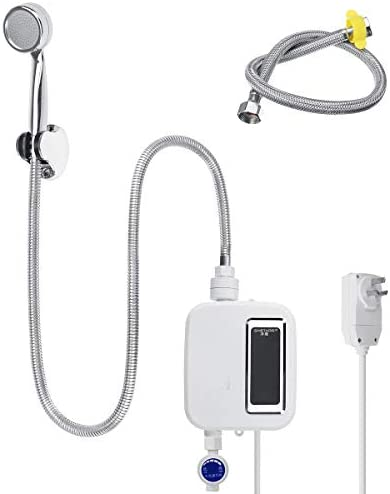 3500W 220V Electric Tankless Instant Hot Water Heater Kitchen Faucet Bath Shower Head product image