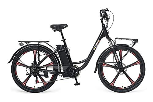 i-Bike City ePlus ITA99, Bicicletta elettrica a pedalata assistita Unisex Adulto, Nero, Taglia unica