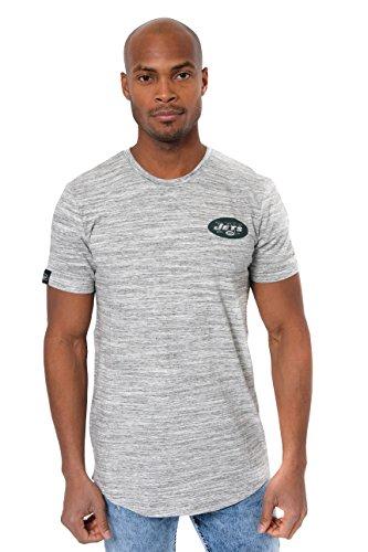 Ultra Game NFL New York Jets Mens Active Basic Space Dye Tee Shirt, Space Dye, Medium
