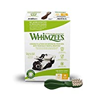 WHIMZEES Natural Dental Dog Chews Long lasting, Medium Toothbrush, 30 Pieces- Amazon Exclusive