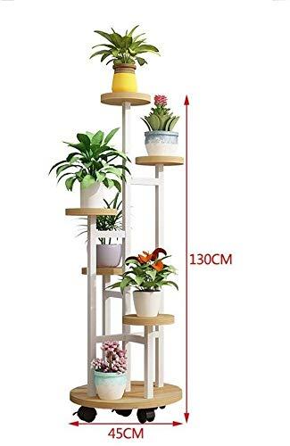 LI XIANG Shelf Multi-Layer-Grün Rettich Rack-Speicher Movable Flower Stand Gesamtdarstellung Stabile Stahlrahmen Blatt + Stahlrahmen (43X130CM, 43X110CM)