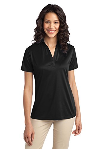Port Authority Ladies Silk Touch Performance Polo, Black, XX-Large