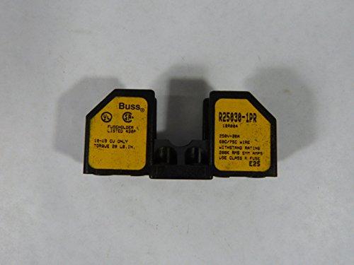 Bussman R25030-1PR Fuse Block Kansas City Mall 30amp 1 Pole 250V Max 77% OFF