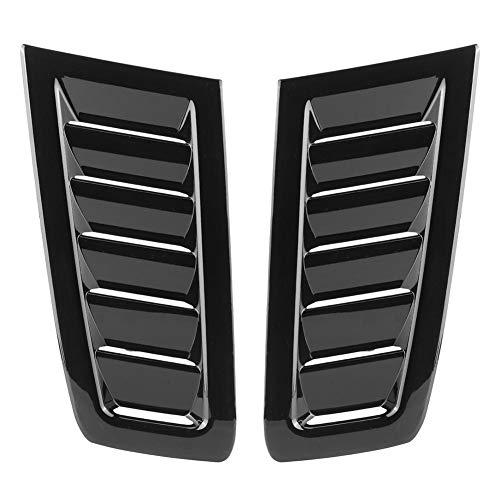 EBTOOLS Cubierta del respiradero del capó del ABS, accesorio modificado del respiradero del capó del ABS del automóvil para Focus RS MK2(Negro brillante)