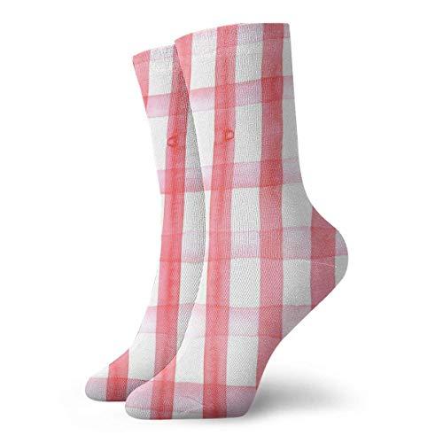 Yuanmeiju Picnic Blanket Red Gingham Athletic Crew Socken Running Tube Sock Thick Workout Socken All-season for Mens Womens