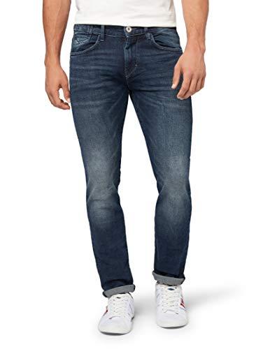 TOM TAILOR Herren Troy Slim Jeans, Blau (Mid Stone Wash Denim 10281), 28W / 32L