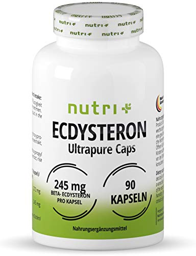Ecdysterone Capsules high Dosage + Vegan - 245mg per Capsule - 95% beta Ecdysterone - Cyanotis Arachnoid Extract (Better Than Spinach) - 90 Capsules