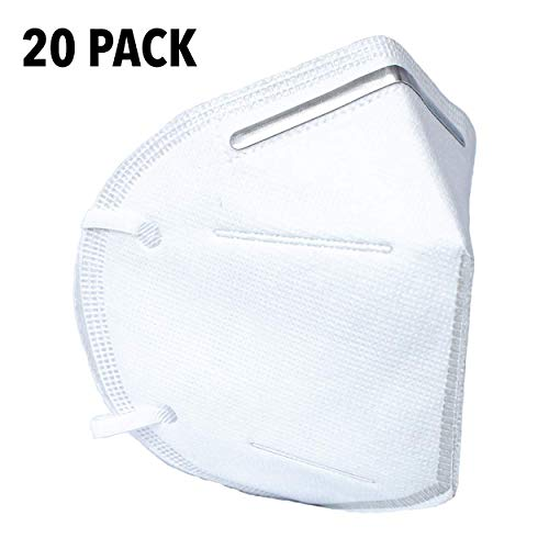 Standard Staubmaske Atemschutzmaske Civilian Basic Gesichtsmaske Allzweckmaske Vliesmaske Packung mit (20)