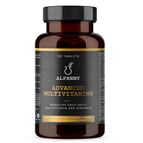 Advanced Multivitamin and Minerals - 120 Tablets, (4 Month Supply) 26 A-Z High Strength Bioactive Vitamins and Minerals. Daily Tablets for Men & Women – UK Manufactured