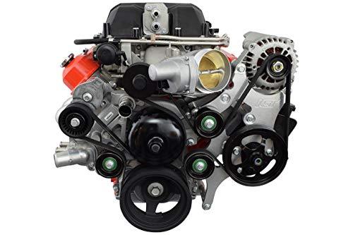 ICT Billet LS Truck LSA Supercharger Swap 6 rib Alternator and Power Steering Bracket Kit 551787A-3