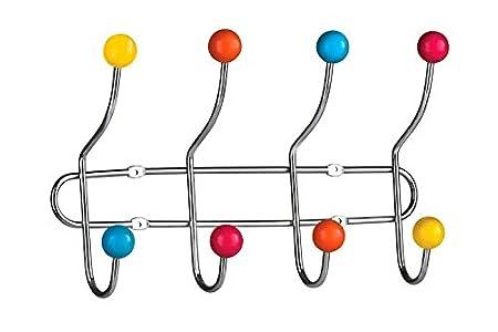 Premier Housewares - Perchero resistente para puerta (8 colgadores de cerámica) , colores variados