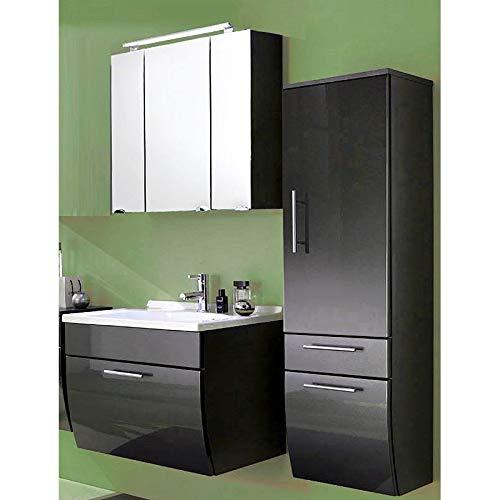 Lomadox - Juego de Muebles de baño (70 cm, con iluminación LED), Color Gris