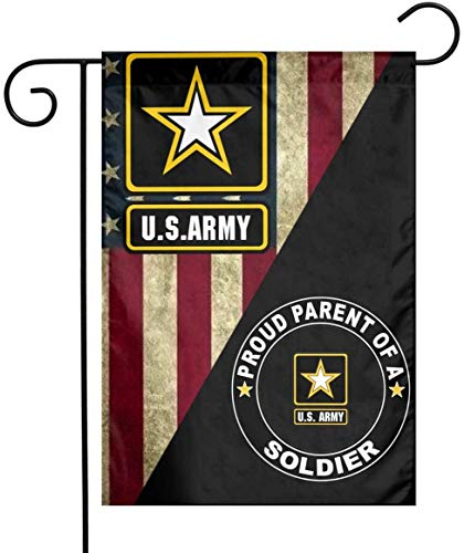 US MILITARY U.S Proud Parent of A Soldier Flag Armed Forces Double-Sided Lawn Decoration Gift House Garden Yard Banner United State Army American Military Veteran, 12' x 18.5 Made in USA