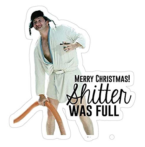 Cousin Eddie: Merry Christmas, National Lampoons Christmas Vacation Decal Sticker - Sticker Graphic - Auto, Wall, Laptop, Cell, Truck Sticker for Windows, Cars, Trucks