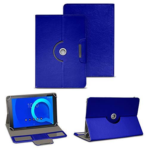NAUC Alcatel 1T 10 Tablet Tasche Hülle Schutzhülle Hülle Schutz Cover 10.1 Cover 360° Drehbar, Farbe:Blau