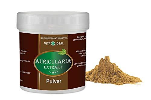 VITA IDEAL ® Auricularia Pilz Extrakt 100g (auricular) Polysaccharide ≥ 30% + Messlöffel